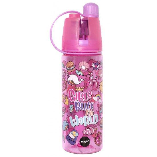 """Детска спрей бутилка за вода """"GIRLS RULE"""""""