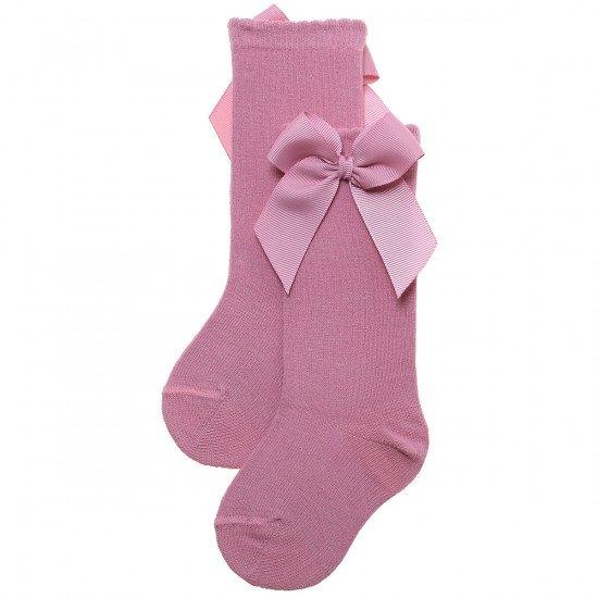 Детски чорапи до коляно с панделка Rosa Palo