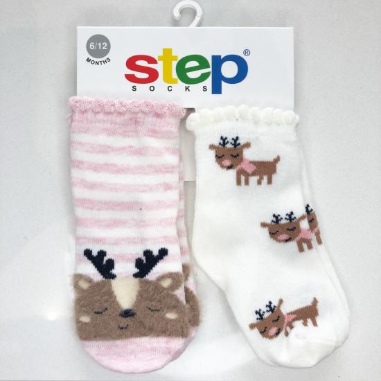 Бебешки и детски чорапи с 3D еленче
