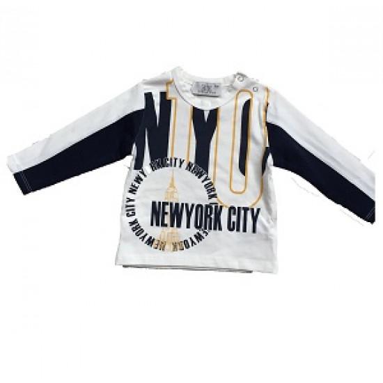 "Спортна тениска ""New York"" с мрежести ръкави за момче Bikkembergs"