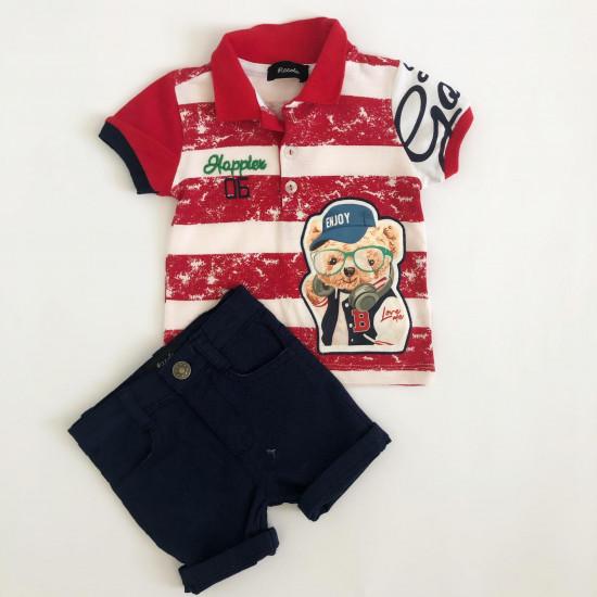 Детски комплект за момче в червено Piccole