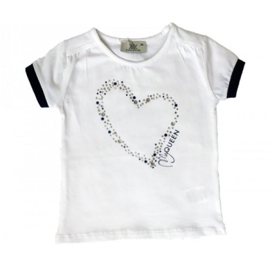 """Блуза """"Сърце"""" с камъни на Chicco EDELWEISS"""