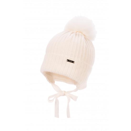 Бебешка зимна шапка за момче в екрю Jamiks
