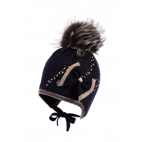 Вълнена зимна детска шапка за момиче Jamiks