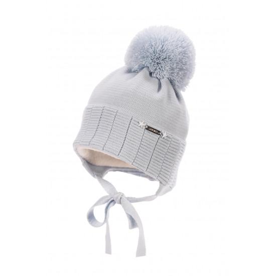 Бебешка зимна шапка за момче в синьо Jamiks