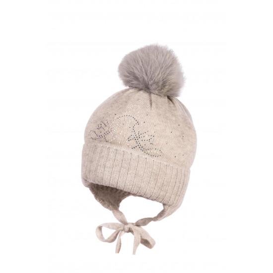 Детска зимна шапка в сиво за момиче Jamiks