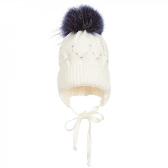 Детска зимна плетена шапка за момиче  на Jamiks