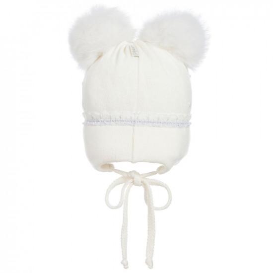 Бебешка зимна шапка с помпони на Jamiks