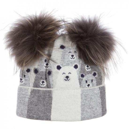 Детска зимна шапка с енот  на Jamiks