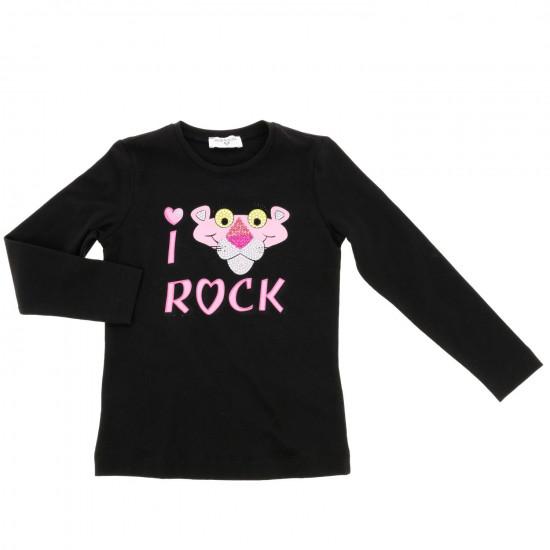 Детска блуза в черно Pink Panther