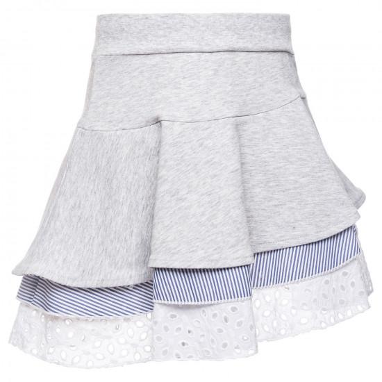 Детска лятна пола в сиво за момиче