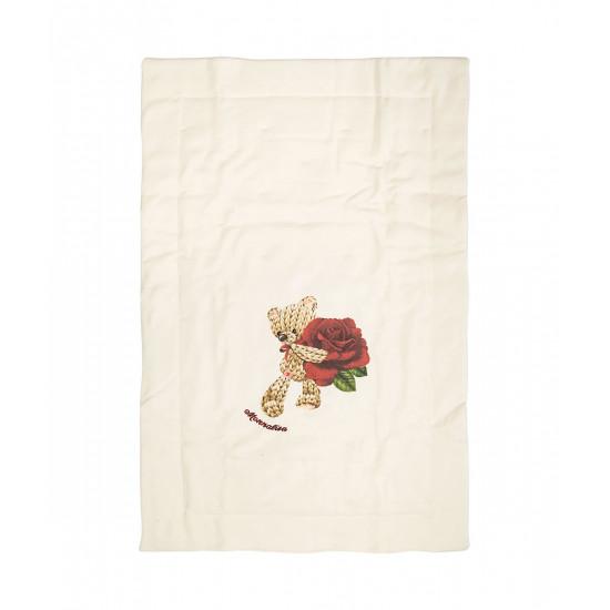 """Бебешка памучна пелена за изписване 'Мече"""" на MONNALISA"""