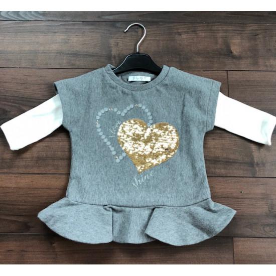 Детска зимна рокля сърце на Elsy