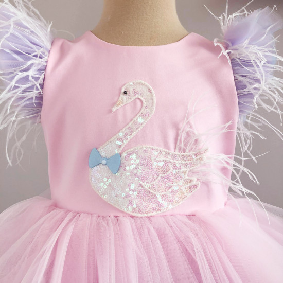 """Детска официална рокля """"Лебед"""""""