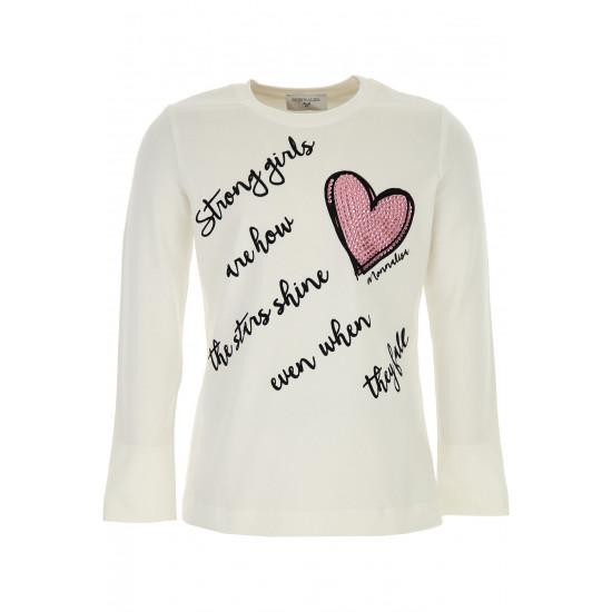"""Детска блуза за момиче """"Сърце"""""""