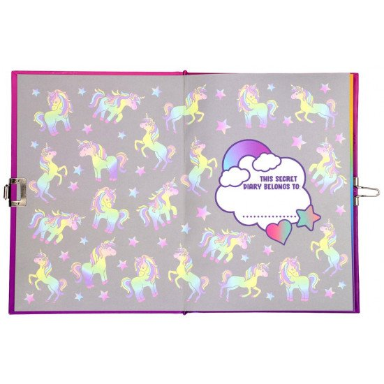 """Светещ таен дневник за момиче """"UNICORN OMBRE"""""""