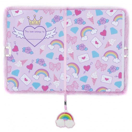"""Таен дневник за момичета с плюшени корици """"Еднорог сърце"""""""
