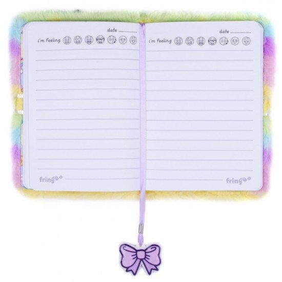 """Таен дневник за момичета с плюшени корици """"Еднорог """""""