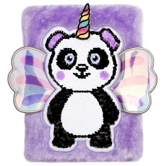 """Таен дневник за момичета с плюшени корици """"Панда""""  3D"""