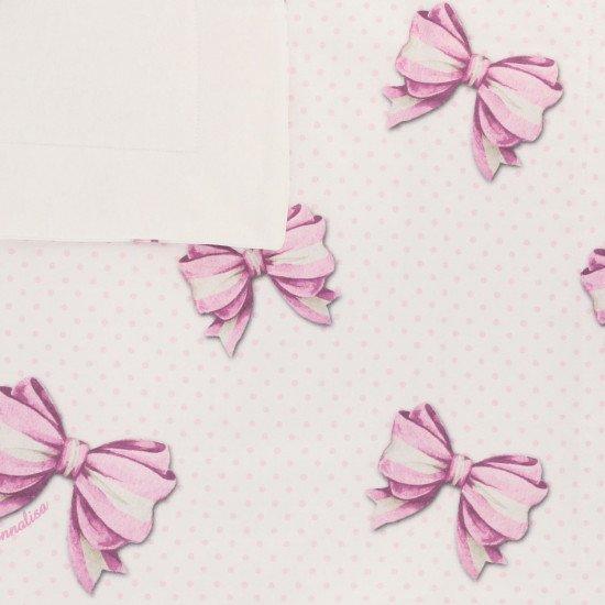 """Бебешка памучна пелена за изписване """"Панделка"""""""