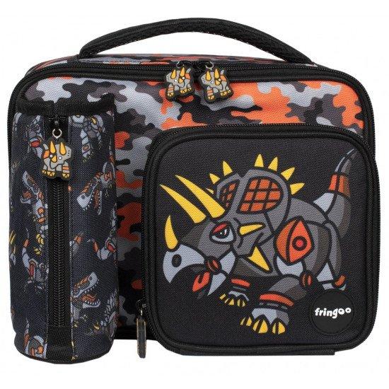 """Детска чанта за обяд  """"Динозаври- роботи"""""""