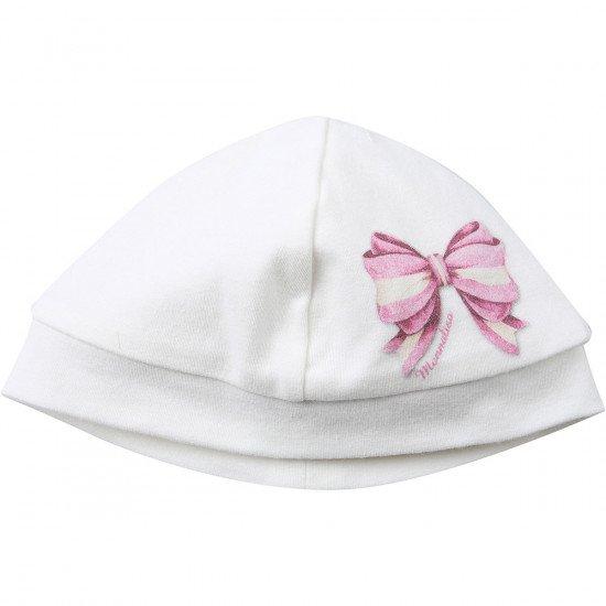 Бебешка шапка с принт панделка