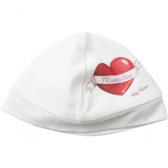 """Бебешка памучна шапка """"Сърце"""""""