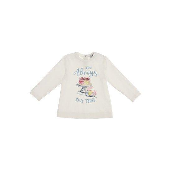 """Бебешка памучна блуза за момиче """"tea time"""""""