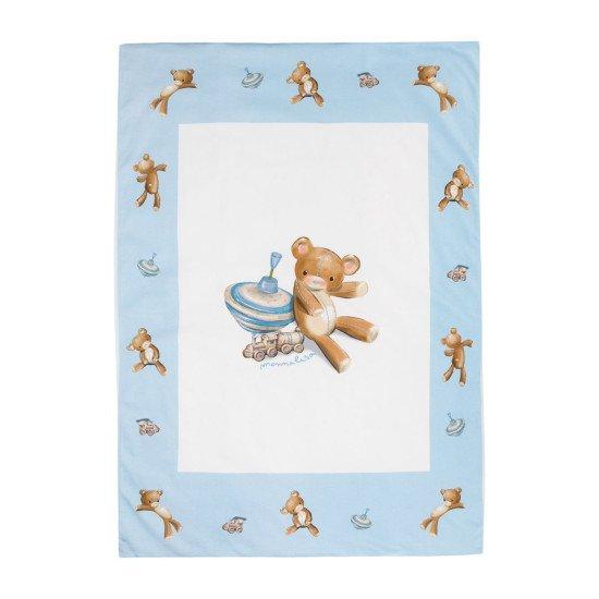 "Бебешко памучно одеяло за момче ""Мече"""