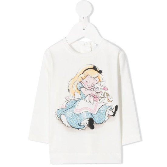 """Бебешка блуза за момиче """"Алиса и зайче"""""""