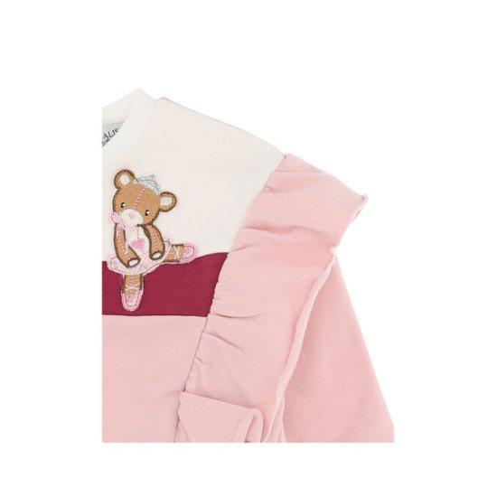 Бебешка зимна блуза за момиче с къдрици