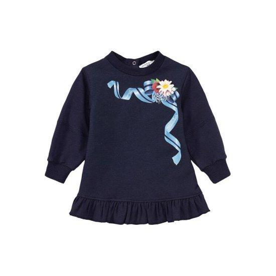 "Бебешка зимна рокля "" Цветя"""