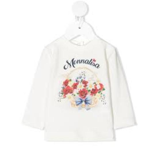 """Бебешка блуза за момиче """"Кошница с цветя"""""""