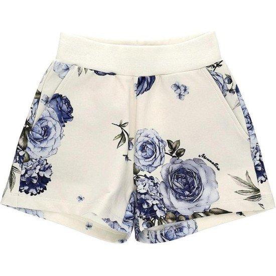 Детски къси зимни панталони със сини рози