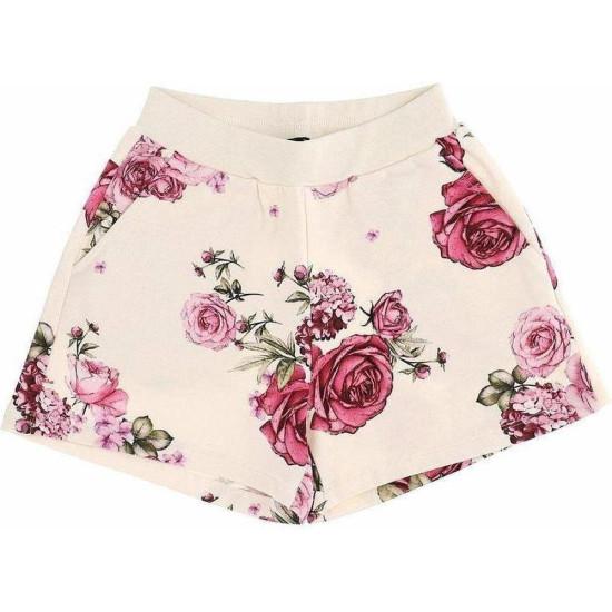 Детски къси зимни панталони с розови рози