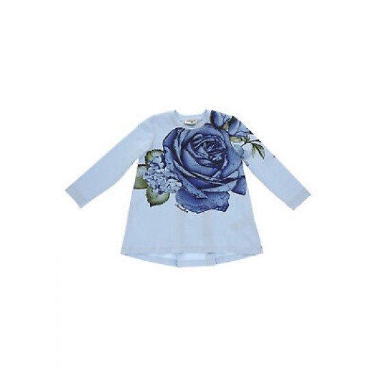 """Детска туника за момиче """"Роза"""" в синьо"""