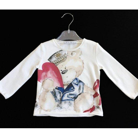 "Детска блуза с принт ""Мече-моторист"" на ELSY"
