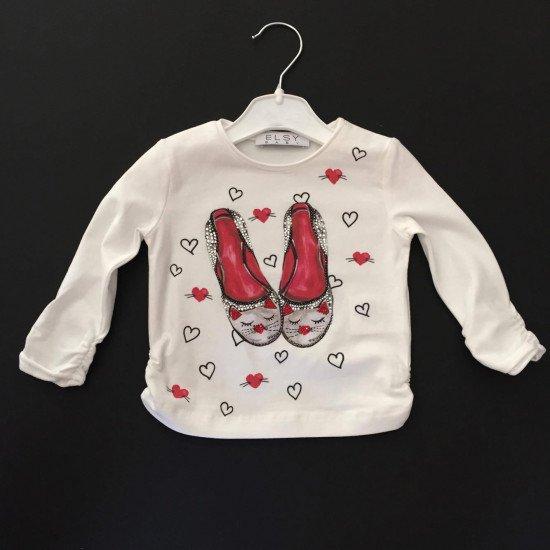 """Детска блуза за момиче """"Пантофки"""" на ELSY"""