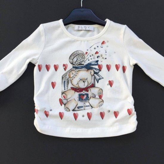 """Детска блуза за момиче """"Сърца"""" на ELSY"""