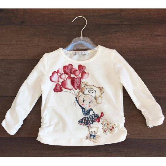 Детска блуза за момиче с балони на ELSY