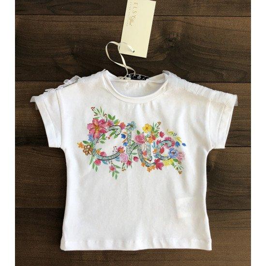 """Детска блуза с къс ръкав за момиче """"Chic"""" by Elsy"""
