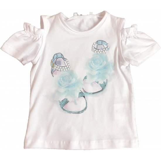 """Детска лятна блуза за момиче """"Сандали"""""""
