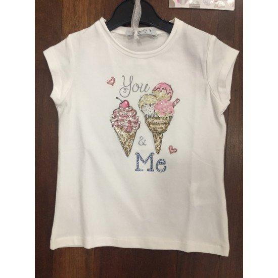 """Детска блуза с къс ръкав за момиче """"Сладолед"""" ELSY"""