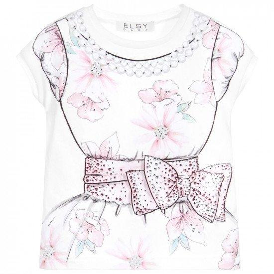 Лятна блуза за момиче с принт рокля