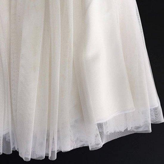 Детска официална в бяло пола от тюл Piccole