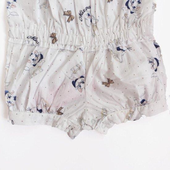 Бебешки летен гащеризон с панделка за момиче на Bebepan