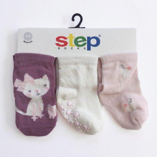 """Бебешки чорапи """"Коте"""" за момиче на Step"""