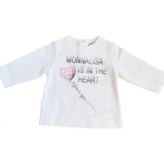 """Блуза """"Сърце"""" за момиче на MONNALISA"""