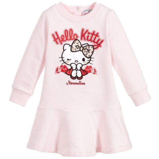 Бебешка рокля в розово Hello Kitty