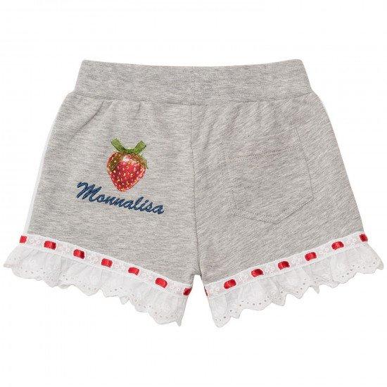 Къси бебешки панталони за момиче с дантела на MONNALISA
